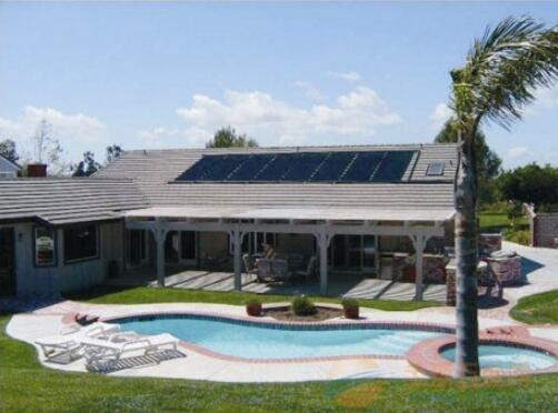 游泳池太阳能加温系统
