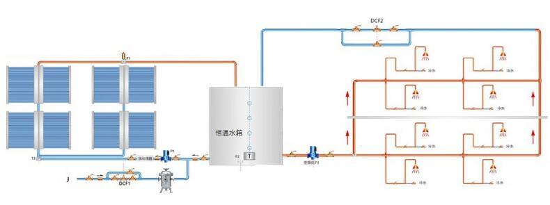 太阳能热水系统原理图