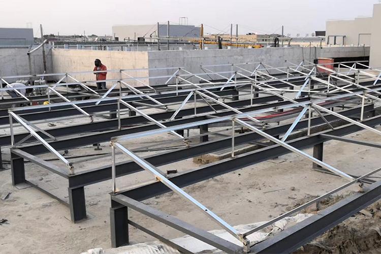 太阳能工程支架安装图