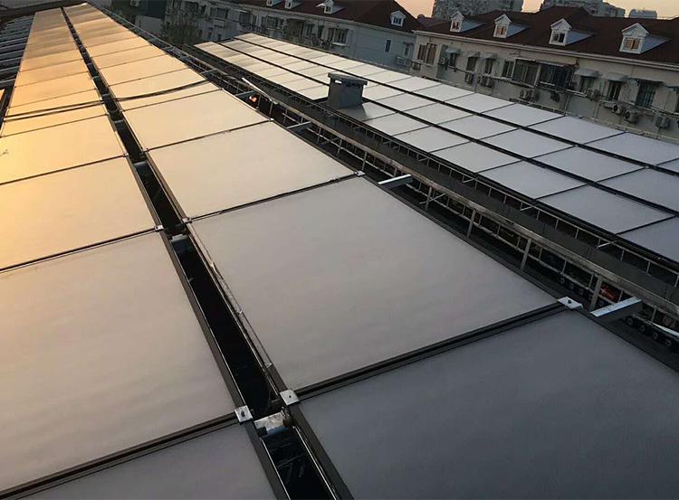学校平板太阳能热水器安装