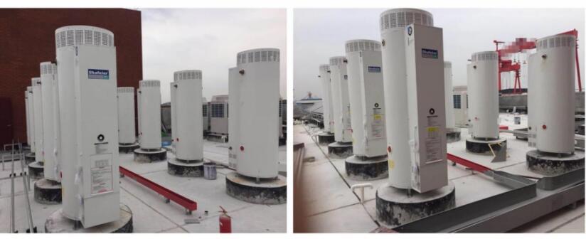 商用容积式燃气热水器安装效果图